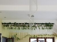 Floral backdrop panels