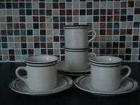 4 x cups and saucers.