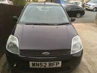 Ford Fiesta 1.3 52 plate. Needs water pump and new battery.