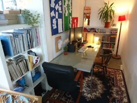 Large DESK SPACE to rent in shared studio - Ridley Road, DALSTON, HACKNEY - optional furnished