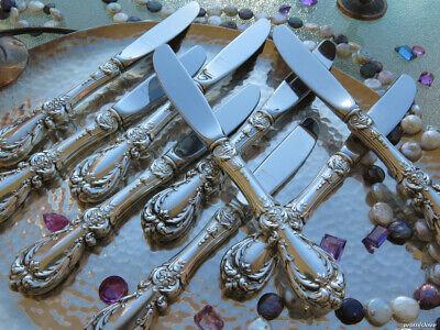 1 STERLING SILVER BUTTER SPREADER KNIFE REED BARTON BURGUNDY FLATWARE HEAVY (Burgundy Sterling Silver Flatware)