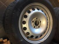 """4 brand new 16"""" genuine ford transit wheels with tyres"""
