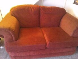 Two seater sofa and one three seater sofa bed for sale.