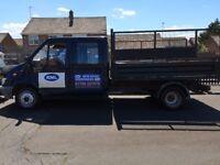 Ford Transit crew cab Tipper truck