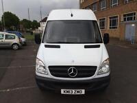 """2013 Mercedes Sprinter 313 CDi LWB 133k Hi Roof Panel Van 1 Owner Full Dealer SH Long MOT """"NO VAT"""""""
