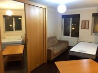 One bed in shared triple room for males
