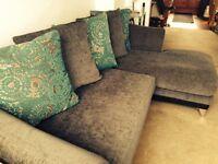 Left Hand Corner Grey Sofa