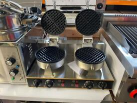 Commercial double waffle maker catering restaurant hotels pubs takeaway equipments