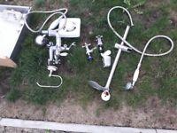 bathroom taps,sink ,electric shower unit triton .shower unit