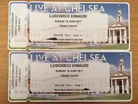 1 x Ludovico Einaudi ticket Sunday 18th June Royal Hospital Chelsea