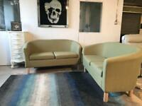 DESIGNER CONTEMPORARY 2 + 2 SEATER GREEN SOFA SET | 07824772721- DELIVERY AVAILABLE!!