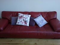 Red Leather Suite / Sofa