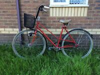 Ace red bike! Vintage, stylish! As no other bike!