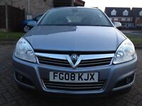 VAUXHALL ASTRA 2008 GREY 1.6 DESING PETROL WITH MOT 12 MONTHS
