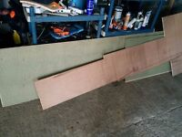 Free new chipboard flooring and excess plywood