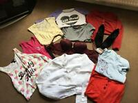 Bag of teenage girls/women's clothes and accessories