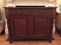 Antique Victorian Edwardian Arts & Crafts Mahogany Wooden Chiffonier Cabinet