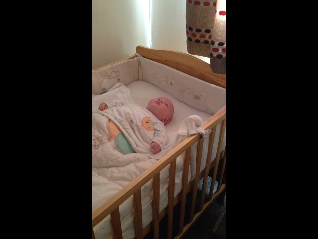 Baby Cot to Bed with matching bedding