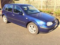 2003 (53) VW Golf 1.6 Match, Blue, 5 Door, Manual FSH Looking for a quick sale