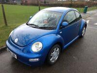 VW Volkswagen Beetle 2001 2.0l petrol 3 door in blue with warranty
