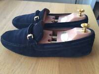 EASTER SALE! Luxurious Churches blue suede mens loafers, casual shoes 43/uk9, RRP £320