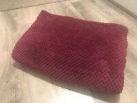 Soft red throw