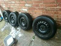 Avon winter tyres 205/55/16 Vw/skoda/seat rims