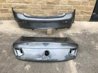 Genuine Mercedes C Class Coupe C63/C250 AMG Rear Bumper & Bootlid 2016-2017-