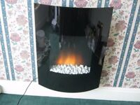CURVED WALL HUNG ELECTRIC FIRE