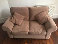 2-seater mink/light brown sofa