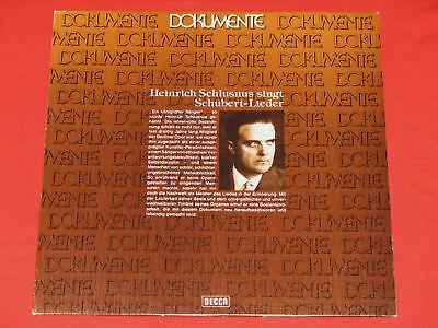 Heinrich Schlusnus - LP  Schubert-Lieder, Sebastian Peschko Klavier / Decca