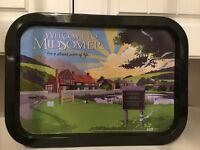 Tray advertising Muddier Murders
