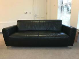 Leather DFS Sofa (3) with Care Pack
