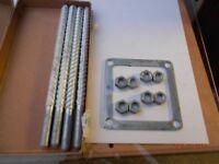 Anchor frame bolts.