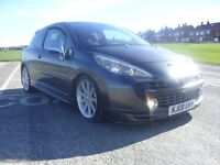 peugeot 207 gti turbo 175thp octane pack,08 plate,67k fmdsh,2 owners,feb mot,runs and drives perfect