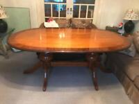 Vintage Large Oak Dining Table and Chairs