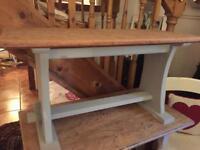 Vintage solid oak bench