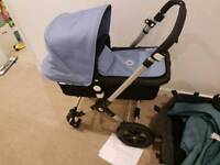 bugaboo cameleon 3 with ice blue or petrol blue colour pack reduced