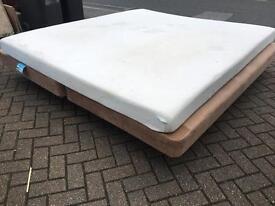Super kingsize divan bed with mattress-£25 delivered