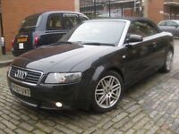 AUDI A4 2.5 TDI 160 BHP CONVERTIBLE #### DIESEL #### 3 DOOR COUPE CABRIOLET
