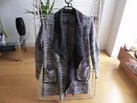 Grey cardigan - Size S - With pockets - Stradivarius