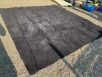 Jet black rug