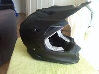 VCan V321 Motorcycle Crash Helmet. Size S. Matt Black. With Bag. Brand New.