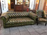 CHESTERFIELD SOFA AND CHAIR