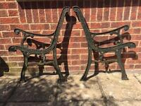 Cast iron bench ends or chair ends