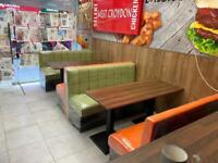 Bench seating booth seating bespoke Upholstery restaurant club pub salons hotel cafe and A.t.c