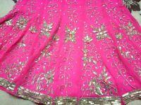BEAUTIFULL BRIDAL/PARTY/EID,WEDDING,MENDI,PARTYS,FUNCTIONS LENGHA PINK NEW LAST 1 LEFT