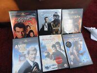 Selection of James Bond DVD's