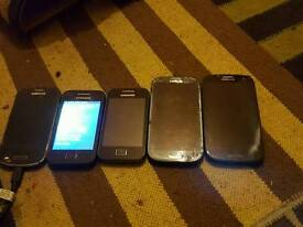 Samsung galaxy 3's and aces and Nokia lumias not working