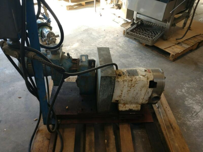 Waukesha Sanitary Pump Size 60 With 480 Volt Motor On Skid